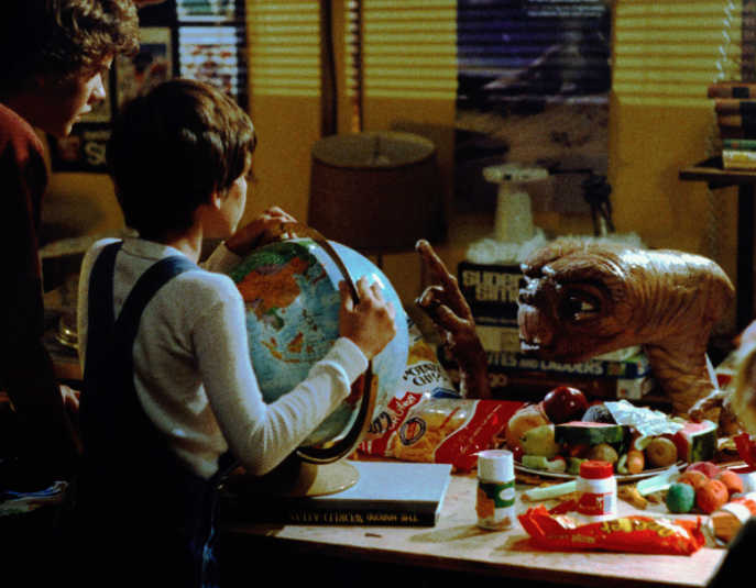 Reese's in the E.T. movie